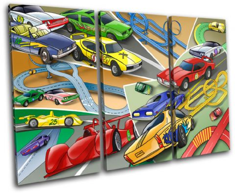 Racing Cars Boys For Kids Room - 13-2134(00B)-TR32-LO